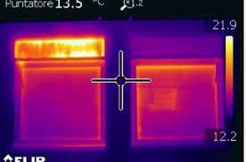 termografia cassonetto prima e dopo